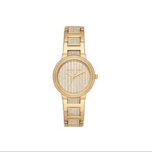 Michael Kors Gold-tone Crystal Pave Watch NWT